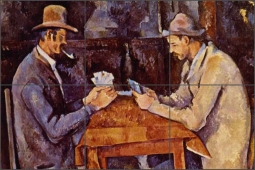 The Card Players by Paul Cezanne Ceramic Tile Mural - 523002