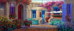 Captivating Alley by Mikki Senkarik Ceramic Tile Mural MSA077