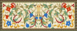 Victorian - Flowers and Beads by Paned Expressions Studios Ceramic Tile Mural OB-PES100