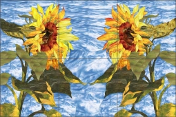 Sunflower Introductions by Paned Expressions Ceramic Tile Mural OB-PES76