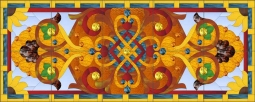 Victorian - Flourishes and Jewels by Paned Expressions Studios Ceramic Tile Mural OB-PES99