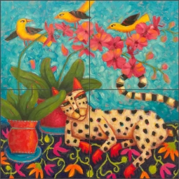 A Knowing Glance by Cindy Revell Ceramic Tile Mural POV-CR007