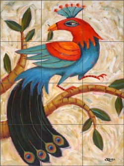 A Little Something by Cindy Revell Ceramic Tile Mural POV-CR010