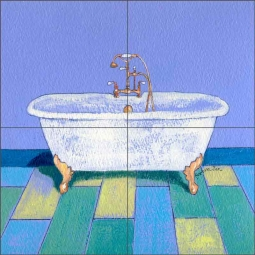 Chelsea Bath by Ramona Jan Ceramic Tile Mural POV-RJA025