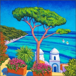 Azure Bay by Stefano Calisti Ceramic Tile Mural POV-SC001