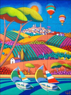 A Day for Sailing by Stefano Calisti Ceramic Tile Mural POV-SC005