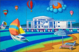 Sailing Around the Rotonda by Stefano Calisti Ceramic Tile Mural POV-SC006