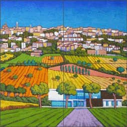 Fields of Color by Stefano Calisti Ceramic Tile Mural POV-SC007