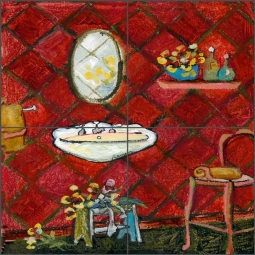 Cinnamon Basin by Ramona Jan Ceramic Tile Mural POV-RJA026