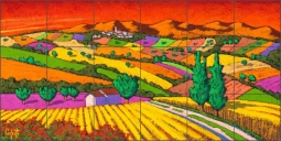 Red Sky by Stefano Calisti Ceramic Tile Mural POV-SC011