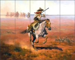 No Country for Slow Horses by Jack Sorenson Ceramic Tile Mural RW-JS019
