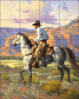 Trottin' In by Jack Sorenson Ceramic Tile Mural RW-JS028