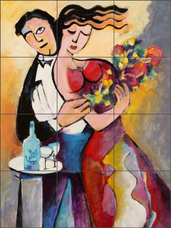 The Engagement by Warren Cullar Ceramic Tile Mural WC148