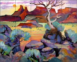 Ghost Ranch by Warren Cullar Ceramic Tile Mural WC162