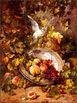 Bourland Fruit Dove Art Ceramic Tile Mural - AB4001