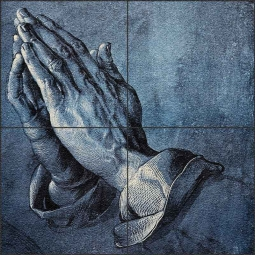 Praying Hands by Albrecht Durer Floor Tile Mural - AD5001
