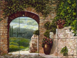 Tuscan Arch by Angelica Di Chiara Ceramic Tile Mural - ADCH009
