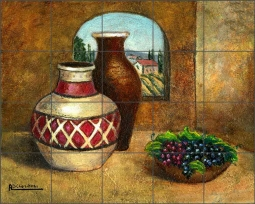 Pottery II by Angelica Di Chiara Ceramic Tile Mural ADCH012