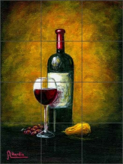Wine Glow by Angelica Di Chiara Ceramic Tile Mural