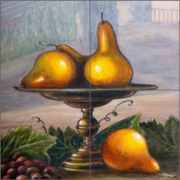 Pear by Angelica Di Chiara Ceramic Tile Mural - ADCH018