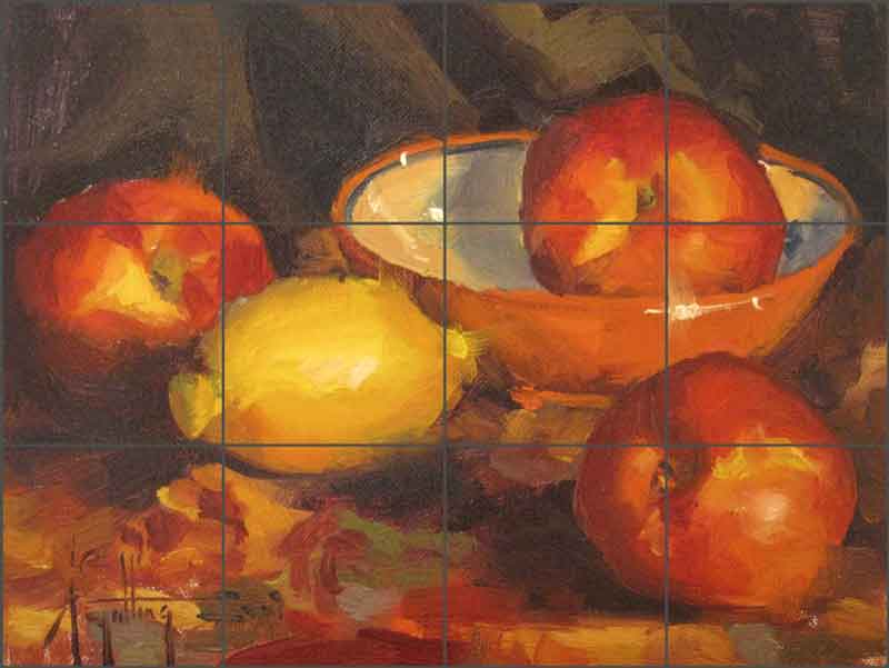 Gutting Fruit Nectarines Ceramic Tile Mural - AGA008