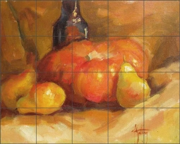 The Red Squash by Abigail Gutting Ceramic Tile Mural AGA011