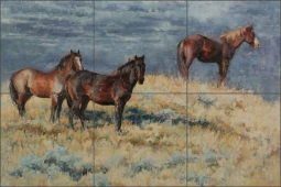 Wild and Free by Abigail Gutting Ceramic Tile Mural - AGA014