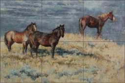 Wild and Free by Abigail Gutting Floor Tile Mural AGA014
