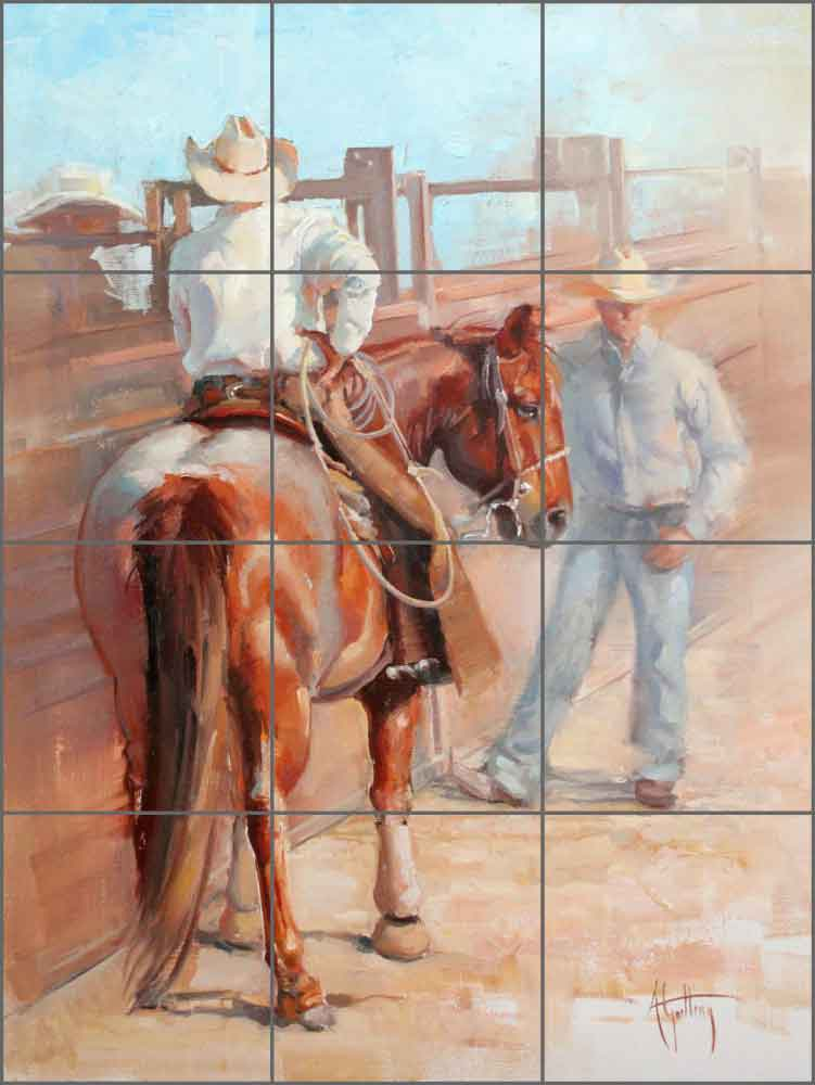 The Pickup Man's Horse by Abigail Gutting Ceramic Tile Mural - AGA019