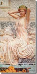 "Moore ""Silver"" Old World Ceramic Tile Mural 17"" x 34"" - AJM008"