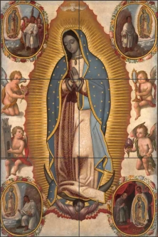 Virgin of Guadalupe Ceramic Tile Mural AOT001