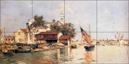 A View of Venice by Antonio Reyna Ceramic Tile Mural - AR002