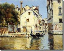 "Reyna Venice Canal Ceramic Accent Tile 10"" x 8"" - AR004AT"