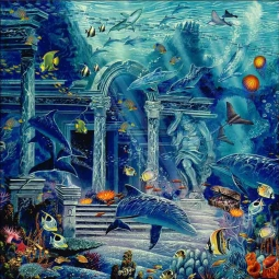 Visions of Atlantis by John Enright Accent & Decor Tile BC-JE07AT