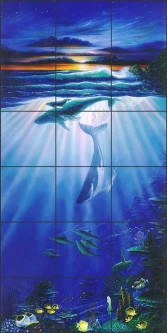 Moku Lua Dawn by John Enright Ceramic Tile Mural BC-JE08