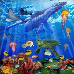 The Myriad Sea by John Enright Glass Tile Mural BC-JE09