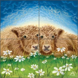 Ginger and Biscuit by Lucy Pittaway Ceramic Tile Mural BC-LP06