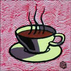 Cole Coffee Cup Kitchen Ceramic Accent Tile - BCA003AT