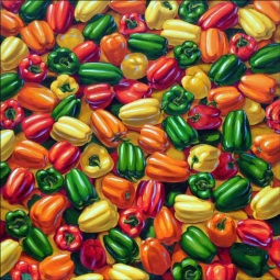 Cole Vegetable Peppers Ceramic Accent Tile  - BCA010AT