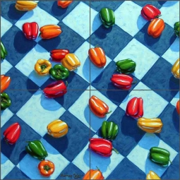 Colorful Kin by Beaman Cole Ceramic Tile Mural BCA012