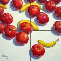 Pomegranates by Beaman Cole Ceramic Tile Mural - BCA026