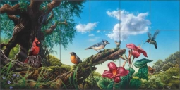 Sanctuary by Bruce Eagle Ceramic Tile Mural BEA011