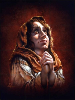 Mary by Bruce Eagle Ceramic Tile Mural - BEA021