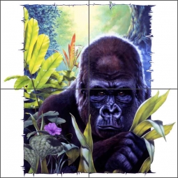 King Kong by Bruce Eagle Ceramic Tile Mural - BEA022