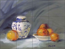 Peaches by Bette Jaedicke Ceramic Tile Mural BJA025