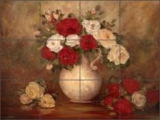 Old World Still Life by Carolyn Cook Ceramic Tile Mural - CC010
