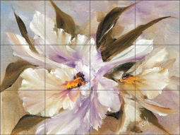 Petite Orchids I by Carolyn Cook Ceramic Tile Mural CC019