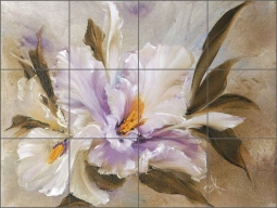 Petite Orchids II by Carolyn Cook Ceramic Tile Mural - CC020