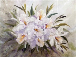 Misted Orchids by Carolyn Cook Ceramic Tile Mural CC021