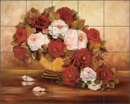 Autumn Fire II by Carolyn Cook Ceramic Tile Mural CC023